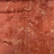 Бархатная ткань терракотового оттенка с золотистым напылением