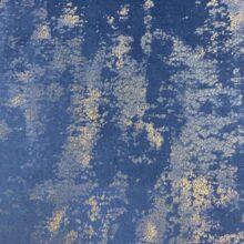 Бархатная ткань синего оттенка с золотистым напылением