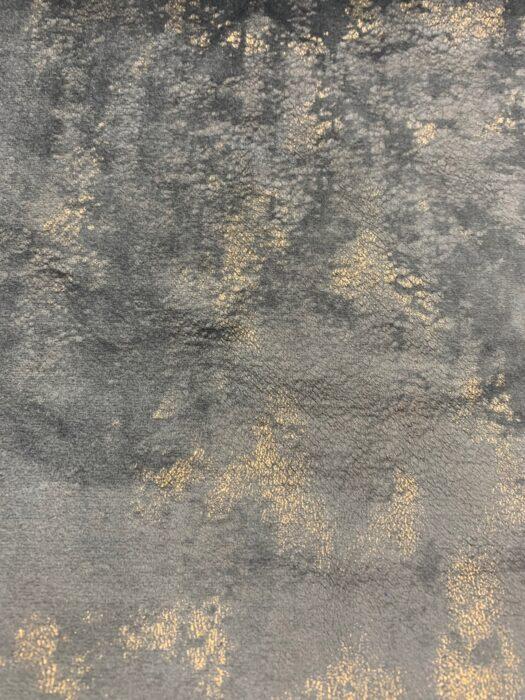 Бархатная ткань тёмно-серого оттенка с золотистым напылением