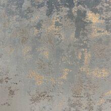 Бархатная ткань в голубых оттенках с золотистым напылением