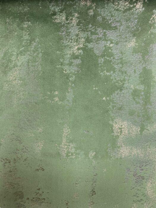 Бархатная ткань в зелёных оттенках с золотистым напылением