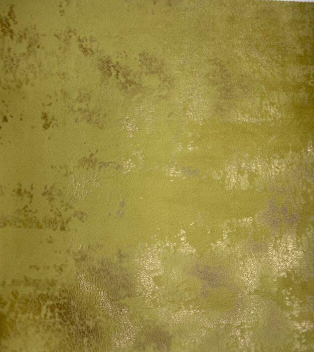 Бархатная ткань в горчичных оттенках с золотистым напылением