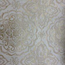 Портьерная жаккардовая ткань «Дамаск» в ванильно-кремовых оттенках
