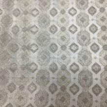 Жаккардовая ткань с геометрическим орнаментом в молочно-ванильных оттенках