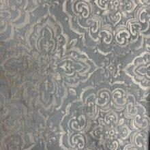 Портьерная жаккардовая ткань  «Дамаск» в серебристо-голубых оттенках