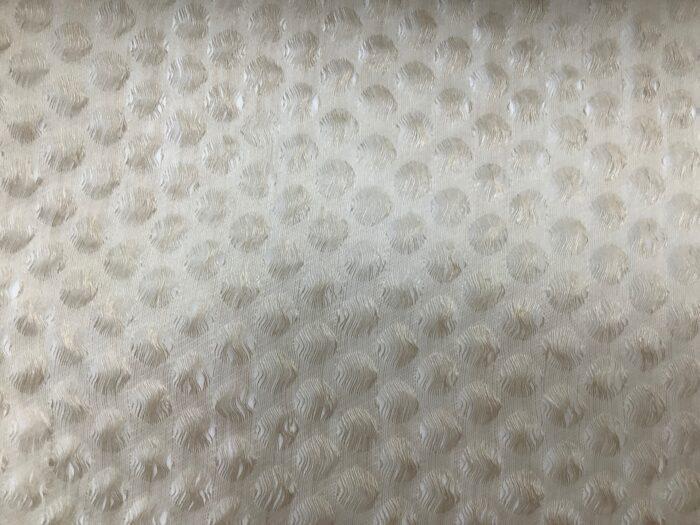 Тюлевая фактурная ткань из льна в бежевом оттенке