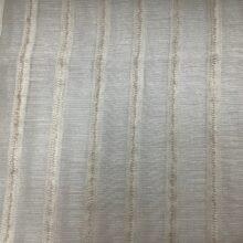 Тюлевая фактурная ткань с вертикальными полосами из натуральных волокон