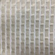 Тюлевая фактурная ткань из натуральных волокон кремового оттенка