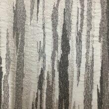 Портьерная жаккардовая ткань в вертикальную абстрактную полоску в серебристых и темно-серых оттенках