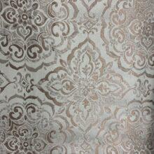 Портьерная жаккардовая ткань «Дамаск» в бледно-голубых и бежевых оттенках