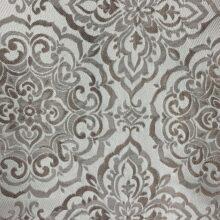 Портьерная жаккардовая ткань «Дамаск» в серебристо-бежевых оттенках
