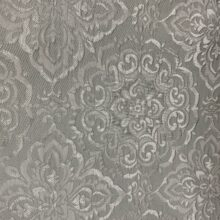 Портьерная жаккардовая ткань «Дамаск» в дымчато-серебристых оттенках
