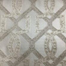 Портьерная жаккардовая ткань с геометрическим рисунком в ванильных оттенках