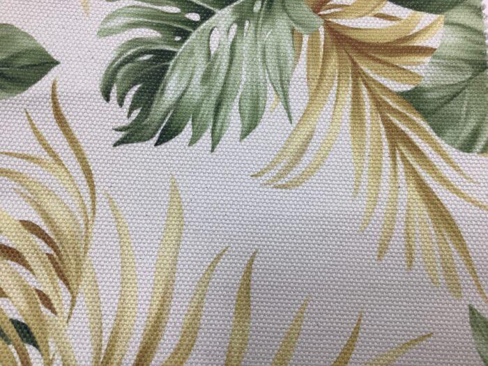 Портьерная ткань, рогожка из хлопка с растительным рисунком