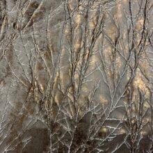 Жаккардовая ткань премиум-класса с фактурным тиснением и напылением с густым рисунком