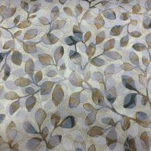 Жаккардовая ткань премиум-класса с растительным орнаментом золотистая