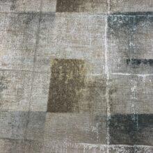 Жаккардовая ткань премиум-класса с геометрическим абстрактным рисунком зеленая