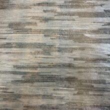 Тюлевая ткань премиум-класса с абстрактными горизонтальными полосами зеленая
